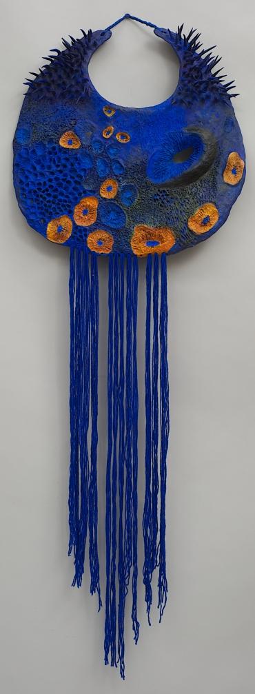 "Jane LADAN - Maasai's Inspired Neck pieces ""Superb Starling (Lamprotornis Superbus)"""