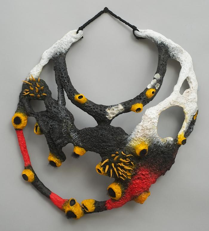 "Jane LADAN - Maasai's Inspired Neck pieces ""Saddle-Billed Stork"""